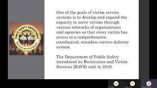 Restitution and Victim Services (RAVS)