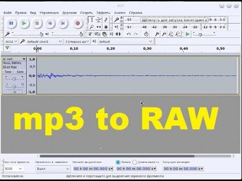 mp3 to RAW converter