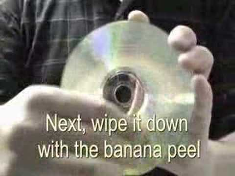 How To Remove CD Scratches With A Banana