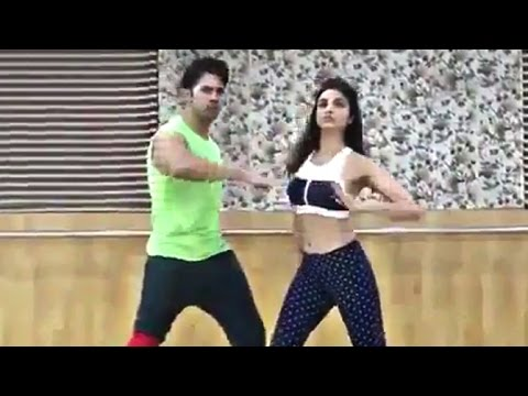 Parineeti Chopra & Varun Dhawan's Dance Rehearsal For Jaaneman Aah Song - Dishoom