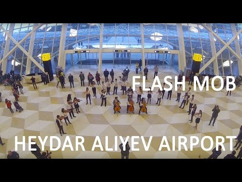 Heydar Aliyev International Airport hosts unusual flash mob