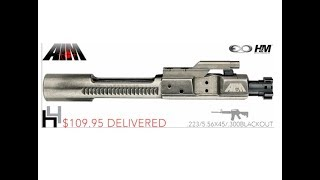 60 Second Review: AIM  SURPLUS AR15 .223/5.56 9310 MPI BOLT CARRIER GROUP (NIB/NITRIDE Hybrid BCG)