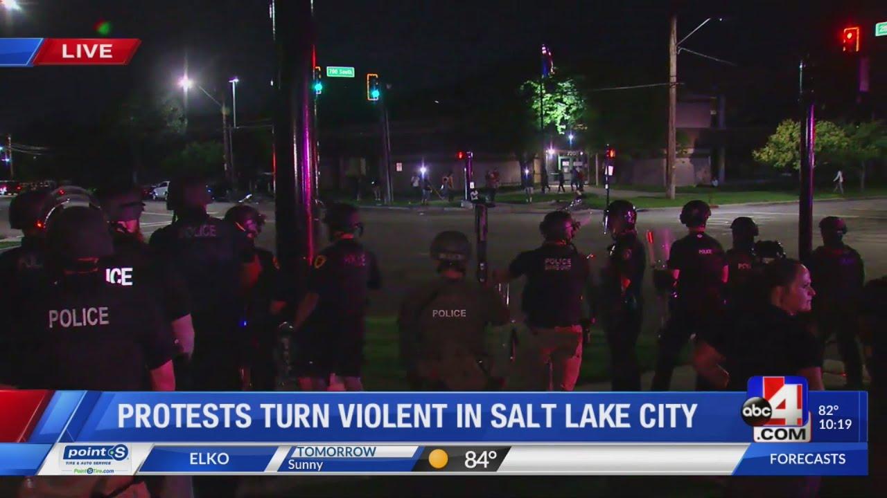 BREAKING NEWS: Downtown SLC protests turn violent and destructive (Part 2)