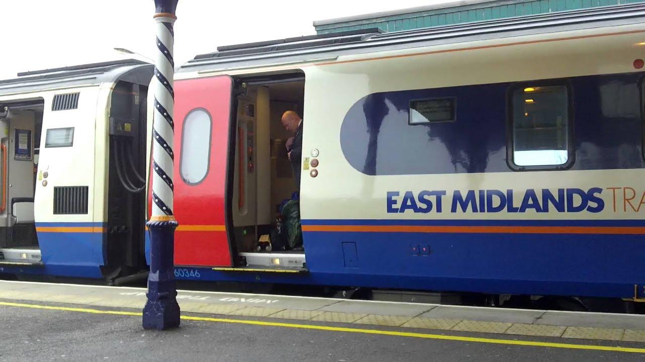 east midlands trains class 222 arriving and departing. Black Bedroom Furniture Sets. Home Design Ideas