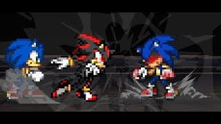 ( Hız Animasyon )gölge Cd: Gölge e Sonic Vs Sonic Exe