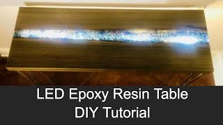 LED Epoxy Resin River Table using Reclaimed Sinker Cypress  // How to Make