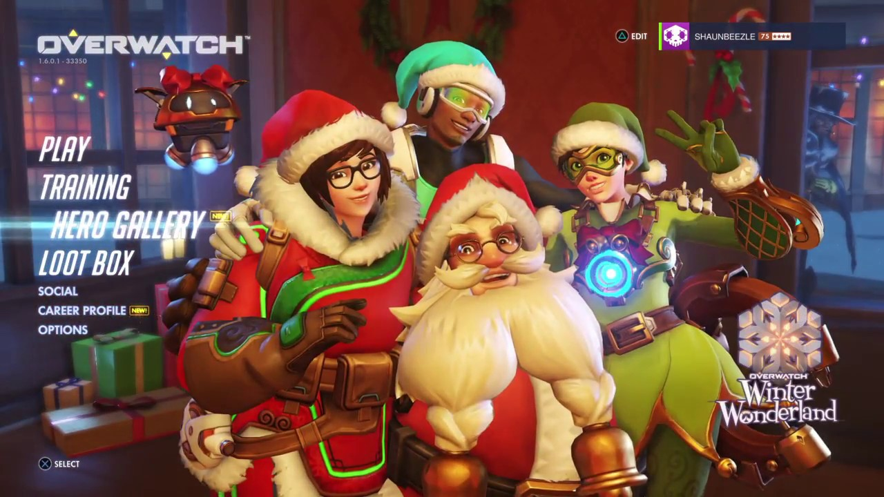Overwatch: 30 Christmas Lootboxes, The hunt for elf Tracer - YouTube
