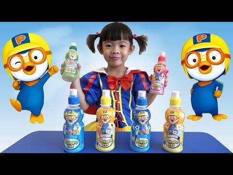 Pororo Fruit Drinks For Kids Apple, Tropical, Milk & Strawberry From Korea ❤ Anan ToysReview TV ❤