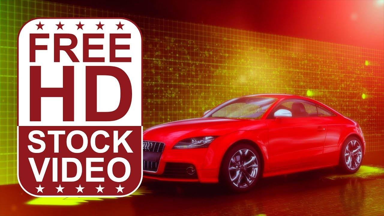 free hd video backgrounds – car audi tts red on digital background