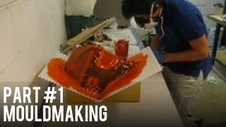 Carbon & Kevlar Hockey Helmet - Part 1 - (Mould Making)