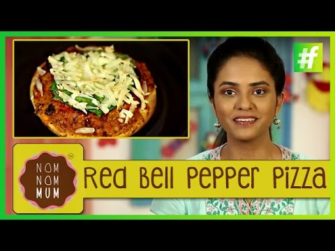 How to Make Red Bell Pepper Pizza
