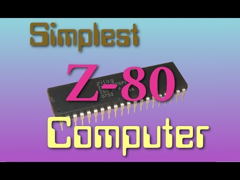 Simplest possible homebrew Z80 8-bit computer