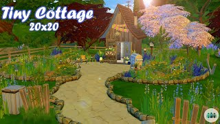 🏡Tiny Cottage Starter House🌳  Sims 4 Speed Build   No CC   Base Game + Get Together