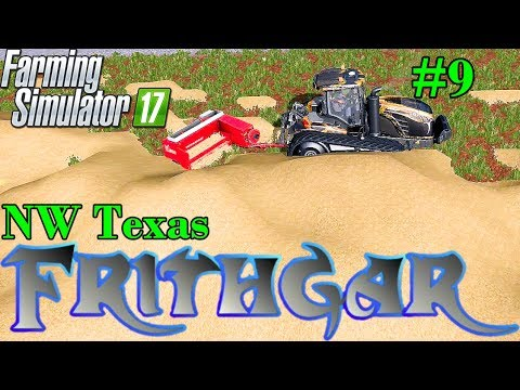 Let's Play Farming Simulator 2017, North West Texas #9 Giant Small Bales, First Attempt!