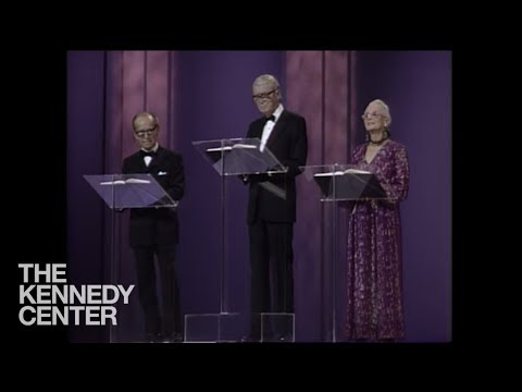 Hume Cronyn, Jimmy Stewart and Jessica Tandy  Bette Davis Tribute   1987 Kennedy Center Honors