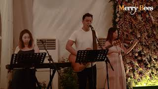 Kiss by John Lye (feat Ywenna and violinist) - MERRY BEES (Singapore Live Band)