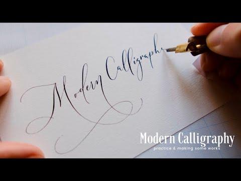 つけペンでモダンカリグラフィー modern Calligraphy Practice