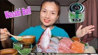 🇯🇵Eat Wasabi Ball-Kì Lạ Trân Châu Wasabi Ăn Cùng Sashimi Hải Sản Ngon Quên Lối Về #321