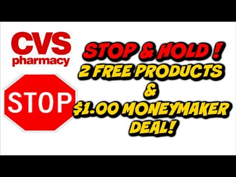 CVS STOP ✋ AND HOLD DEAL | 🔥 2 FREE PRODUCTS AND $1 MONEYMAKER!