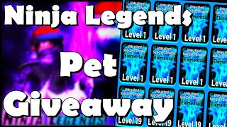 🔴LIVE🎅ELEMENTAL PETS GIVEAWAY NINJA LEGENDS ROBLOX!!!❄️WINTER UPDATE❄️