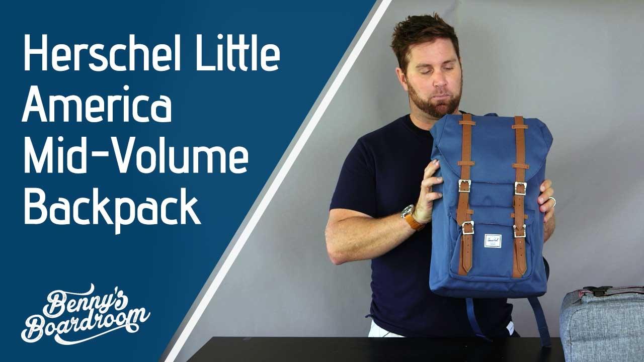 f0fd9ee6a6 Herschel Little America Mid Volume Backpack Walkthrough - Benny s Boardroom
