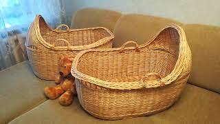 БЕБИ-БУМ: из ивового прута изготавливаю плетеные колыбели, люлечки, кроватки и переноски для малышей
