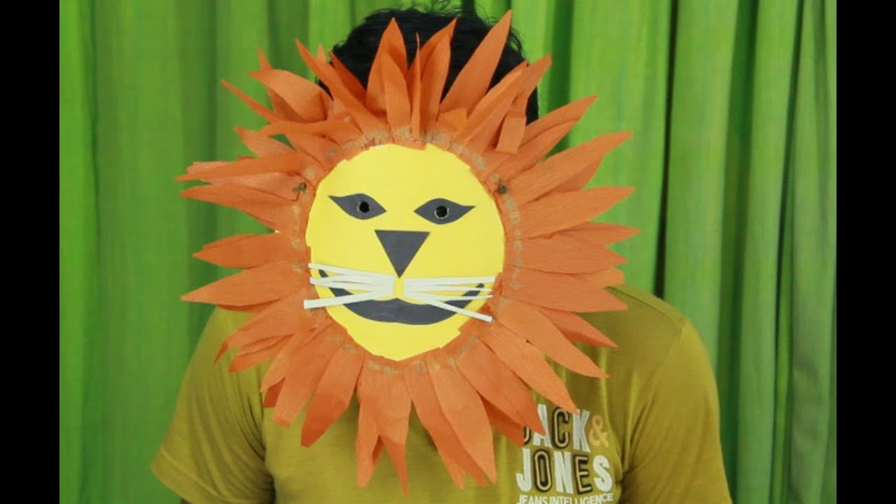 how to make lion mask - YouTube