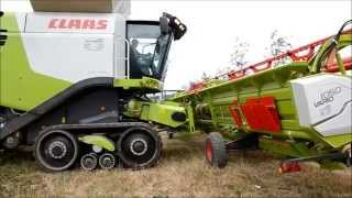 Moisson-Harvest 2014 - NEW Claas Lexion 770 TT & V1050 !!!