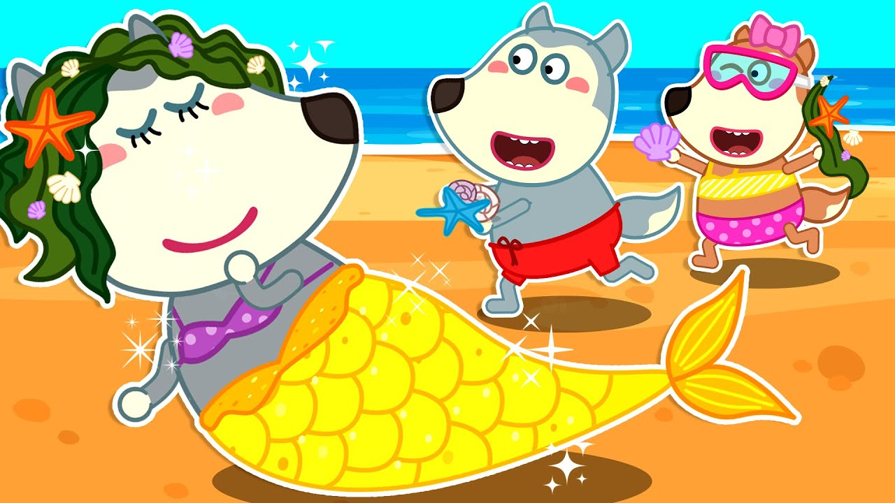 Wolf Family⭐️ Wolfoo Family Has a Fun Day at the Beach - Wolfoo Kids Stories | Kids Cartoon