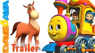🐄 Farm Animals Train - Trailer | Nursery Rhymes and Educational Videos from Dave and Ava 🐄