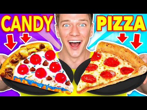 Making FOOD Out Of CANDY!! Learn How To Make DIY Edible Candy vs Real Food McDonalds Challenge