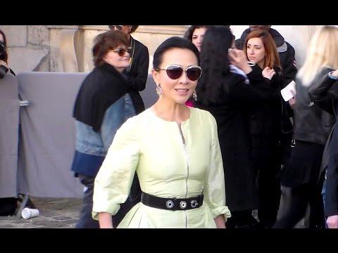 Carina LAU 劉嘉玲 @ Paris Fashion Week 6 march 2015  Dior