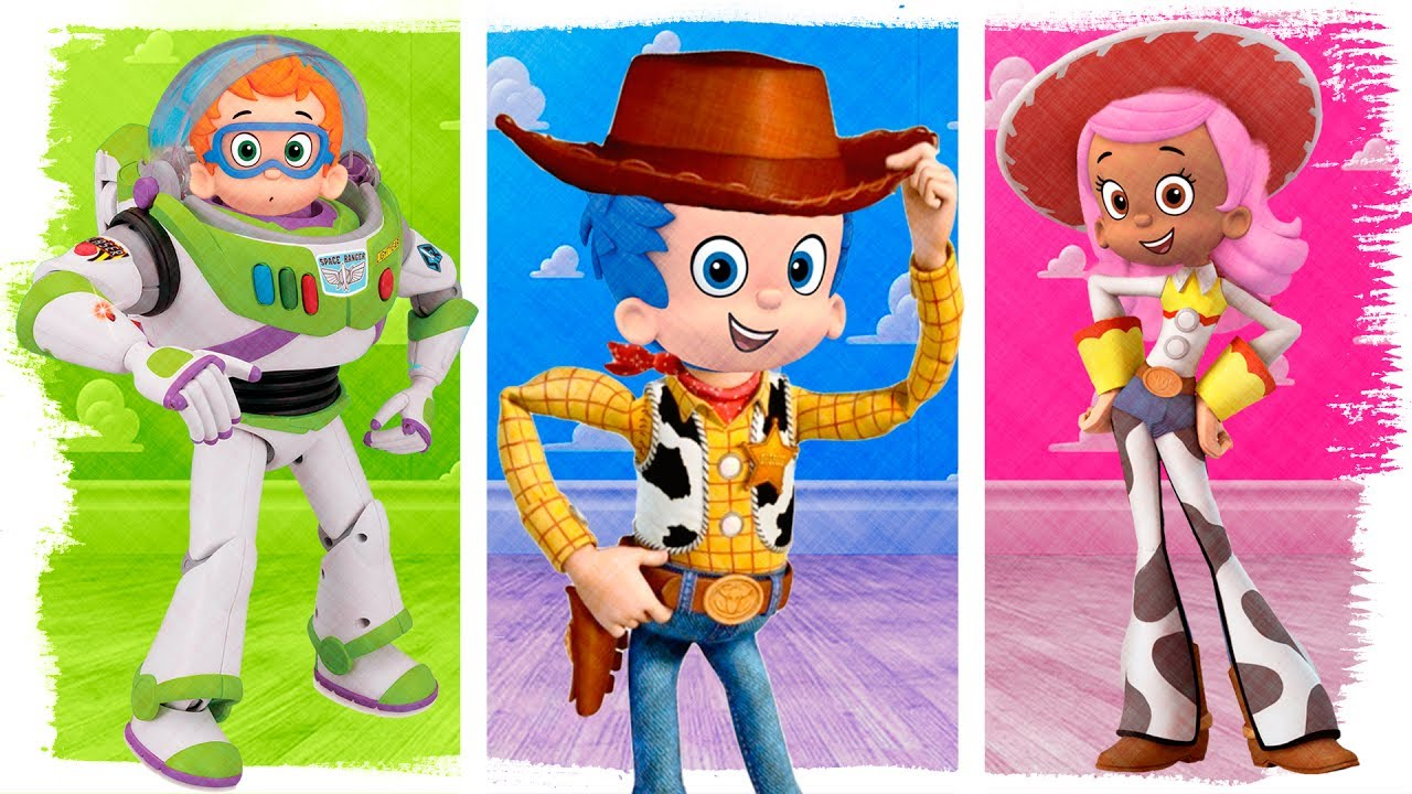 Bubble Guppies As Toy Story Woody Buzz Jessie Fun Coloring