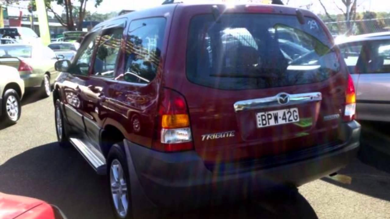 2003 Mazda Tribute Limited Burgundy 5 Speed Manual 4x4 Wagon - YouTube