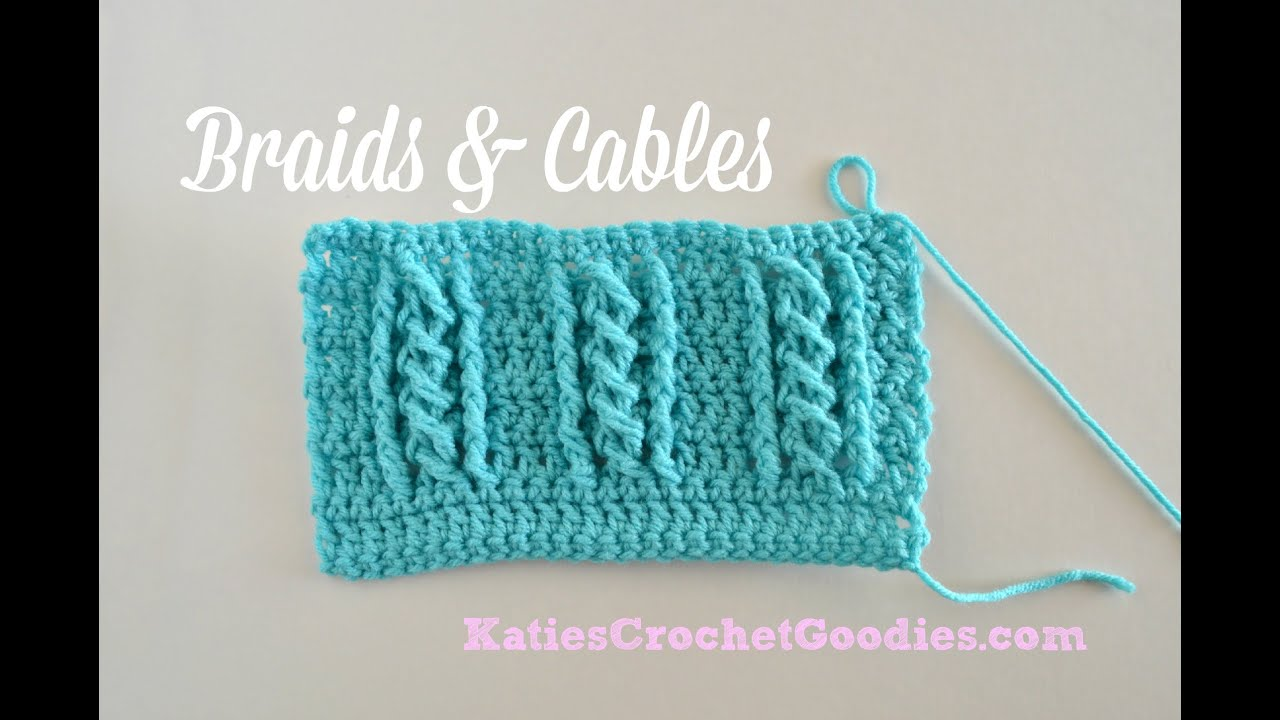 Crochet Cable Stitch : Braided Cable Crochet Stitch - YouTube