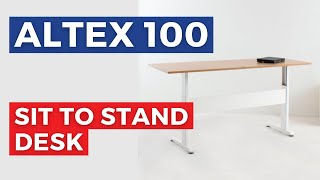 Altex 100 Electric Ergonomic Height Adjustable Office Desk | Standing Desk | Stand Up Desk