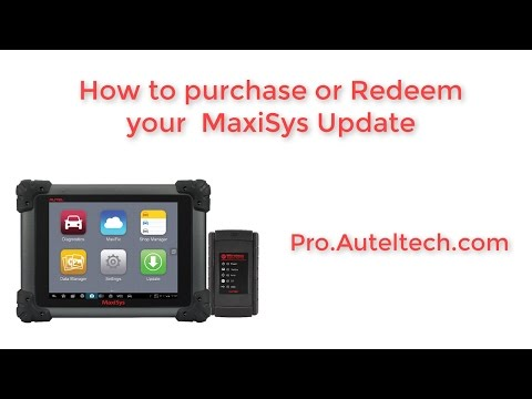 Autel Maxisys Updates and How to Redeem - YouTube