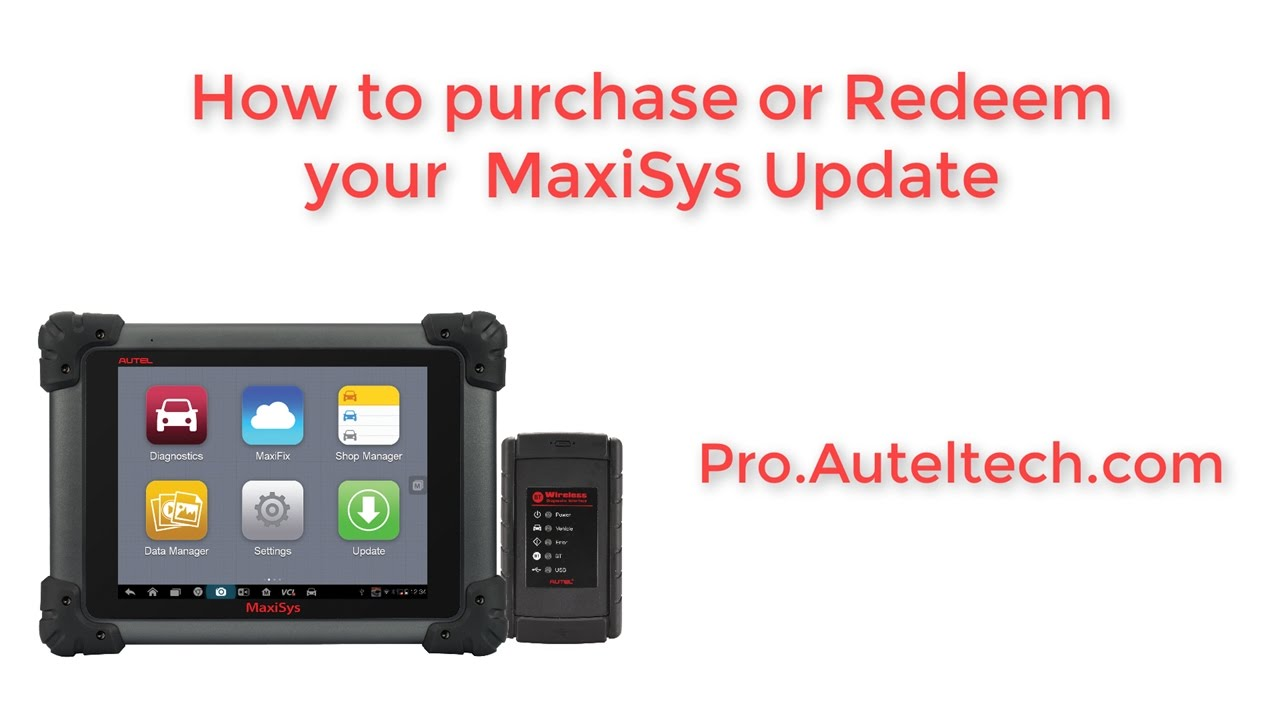 Autel Maxisys Updates and How to Redeem