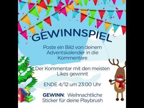 Gewinn Weihnachtskalender.Playbrush Adventskalender Tag 2 Gewinnspiel