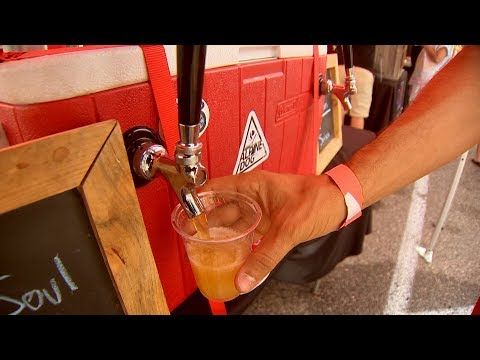 This super chill robot will serve you beer