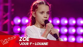 Zoé - 'Jour 1' | Blind Auditions | The Voice Kids Belgique