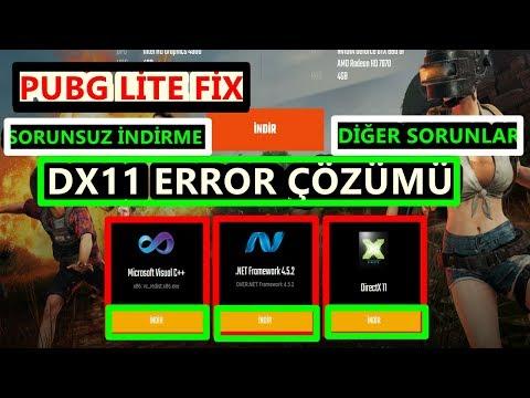 Directx Dx11 - 10.1 Hata ve Sorunların Çözümleri Sorunsuz indirme Pubg Lite