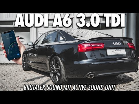 BÖSER SOUND IM AUDI A6 3.0 TDI! Active Soundgenerator im Audi - Cete Automotive Soundmodul