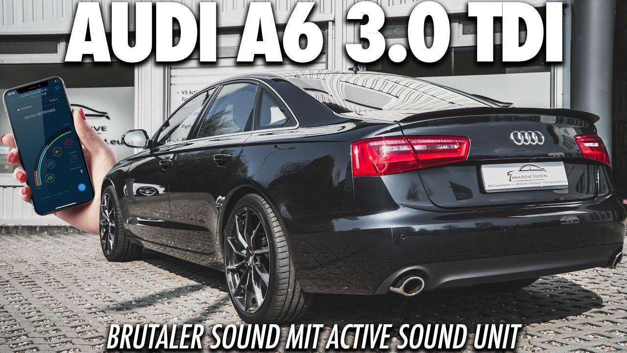 b ser sound im audi a6 3 0 tdi active soundgenerator im. Black Bedroom Furniture Sets. Home Design Ideas