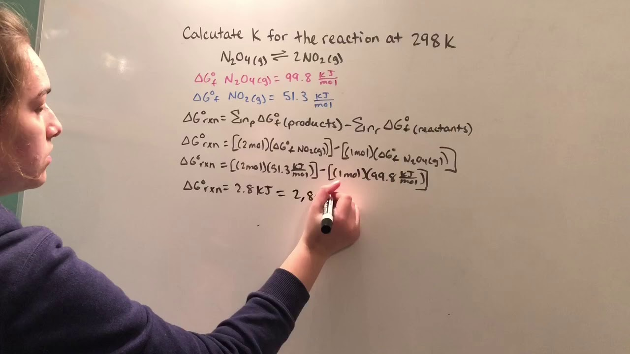 How to Calculate the Equilibrium Constant, K, By Finding Delta G