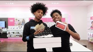Gave My Lil Brother $5,000! Bought Him An iPhone X And Designer! (He Wants To Stay Now)