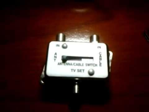 Interruptor de televisi n por antena y de televisi n por - Cable de antena ...