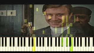 Бриллиантовая рука песня про Зайцев (вступление) Lyric cover on piano in Synthesia