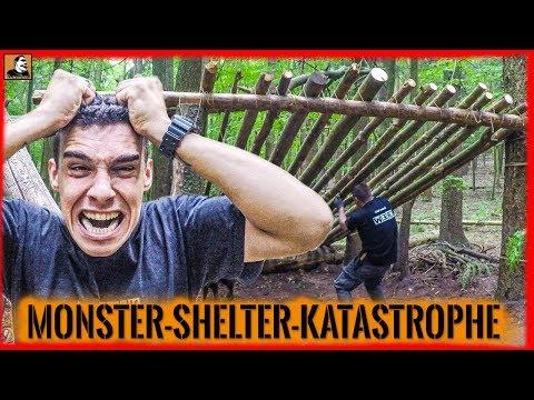 """Survival Mattin"" überlebt CAMP KATASTROPHE ZERSTÖRUNG MONSTER SHELTER ABRISS CHAOS nur knapp."