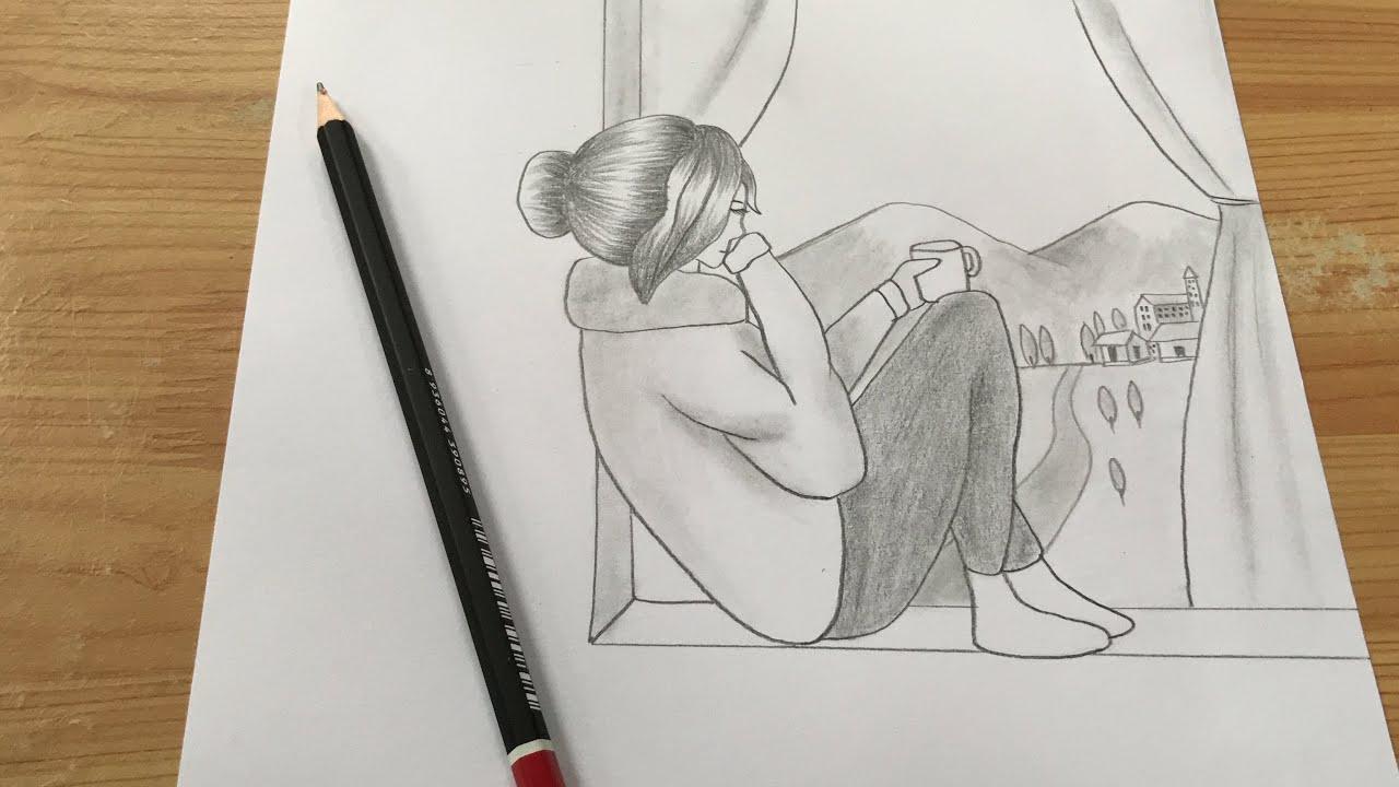 Thử Vẽ Cô Gái bằng Bút Chì Theo Cao Thủ Tik Tok Trung Quốc